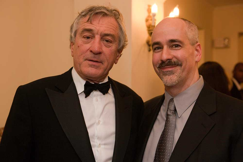 With Robert DeNiro at Symphony Hall, Boston